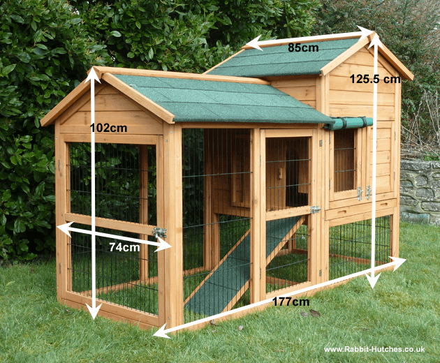 Balmoral rabbit hutch for Awesome rabbit hutches