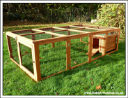 Rabbit hutch with large run