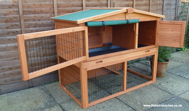 630px for Rabbit hutch designs