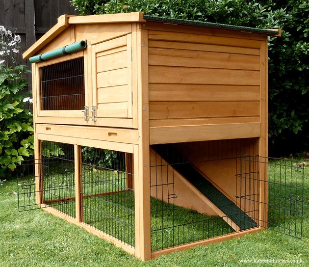 open bottom rabbit hutch
