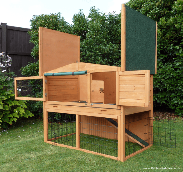 top opening rabbit hutch