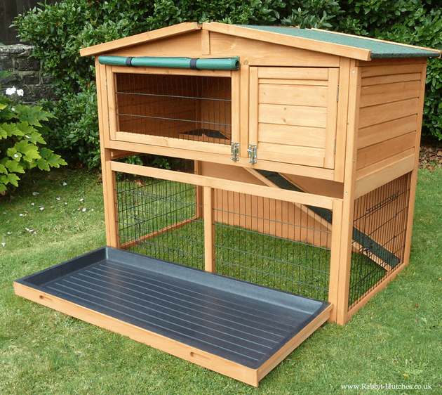 easy clean rabbit hutch