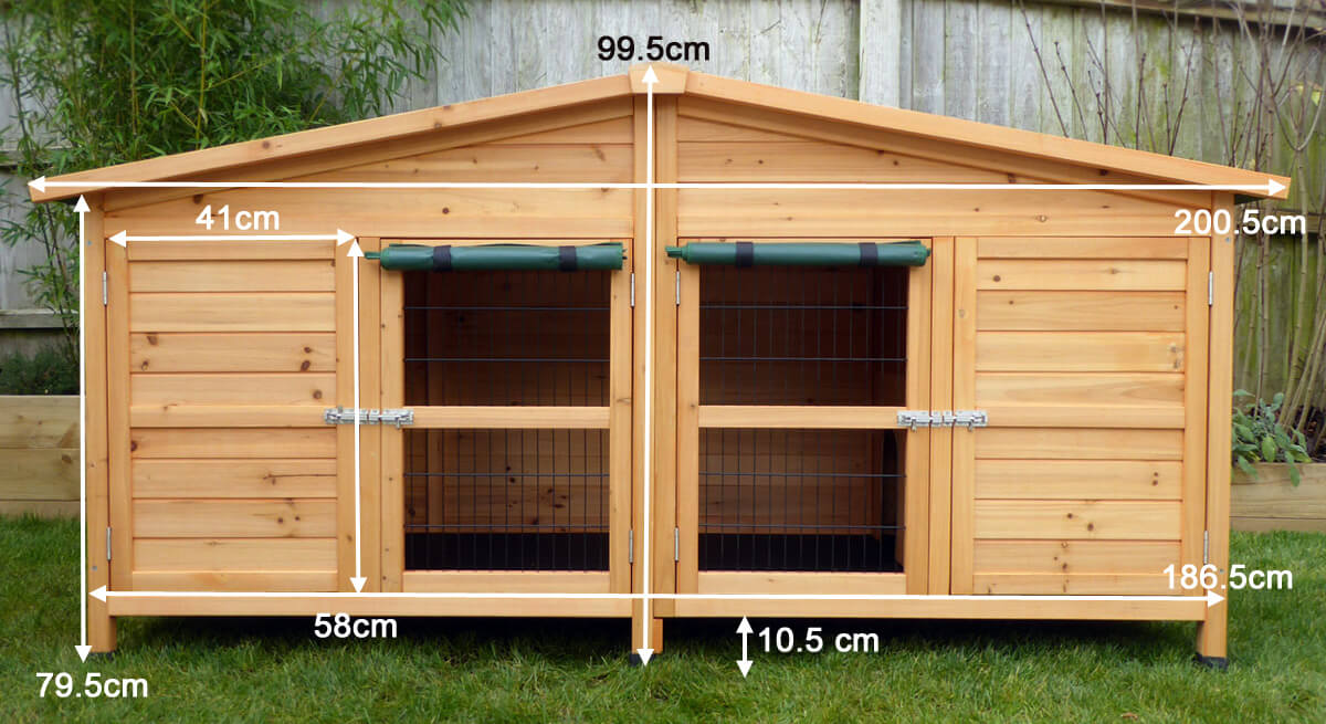 6ft by 2ft by 2ft rabbit hutch