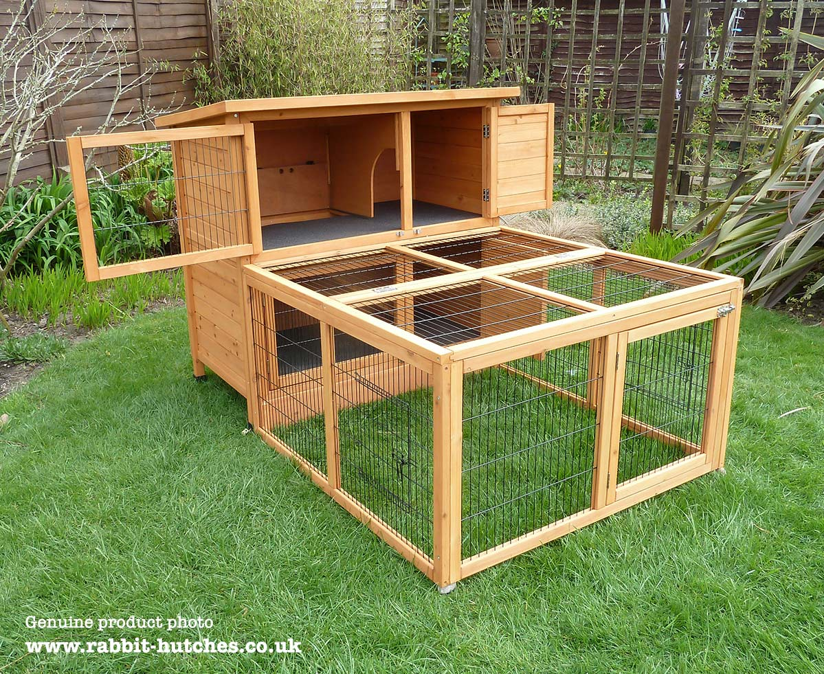 Double Guinea Pig Hutch With Run