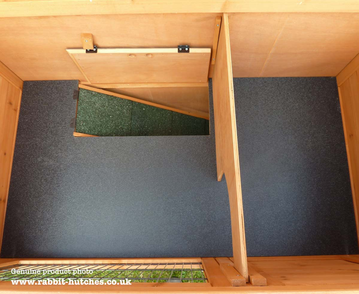 Double Rabbit Hutch interior