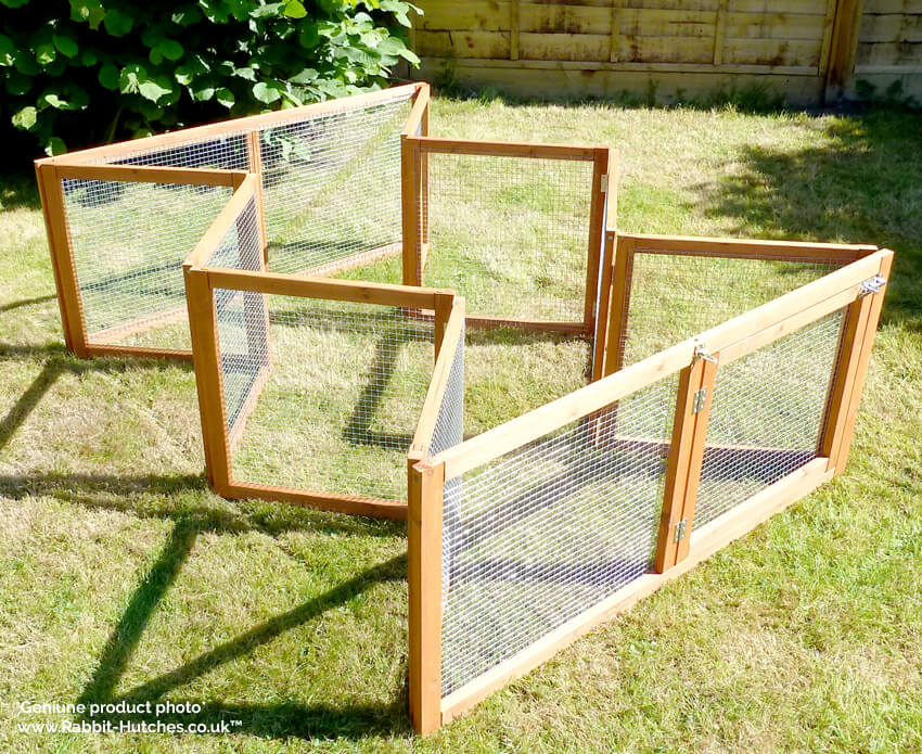 picture showing how the rabbit run folds away
