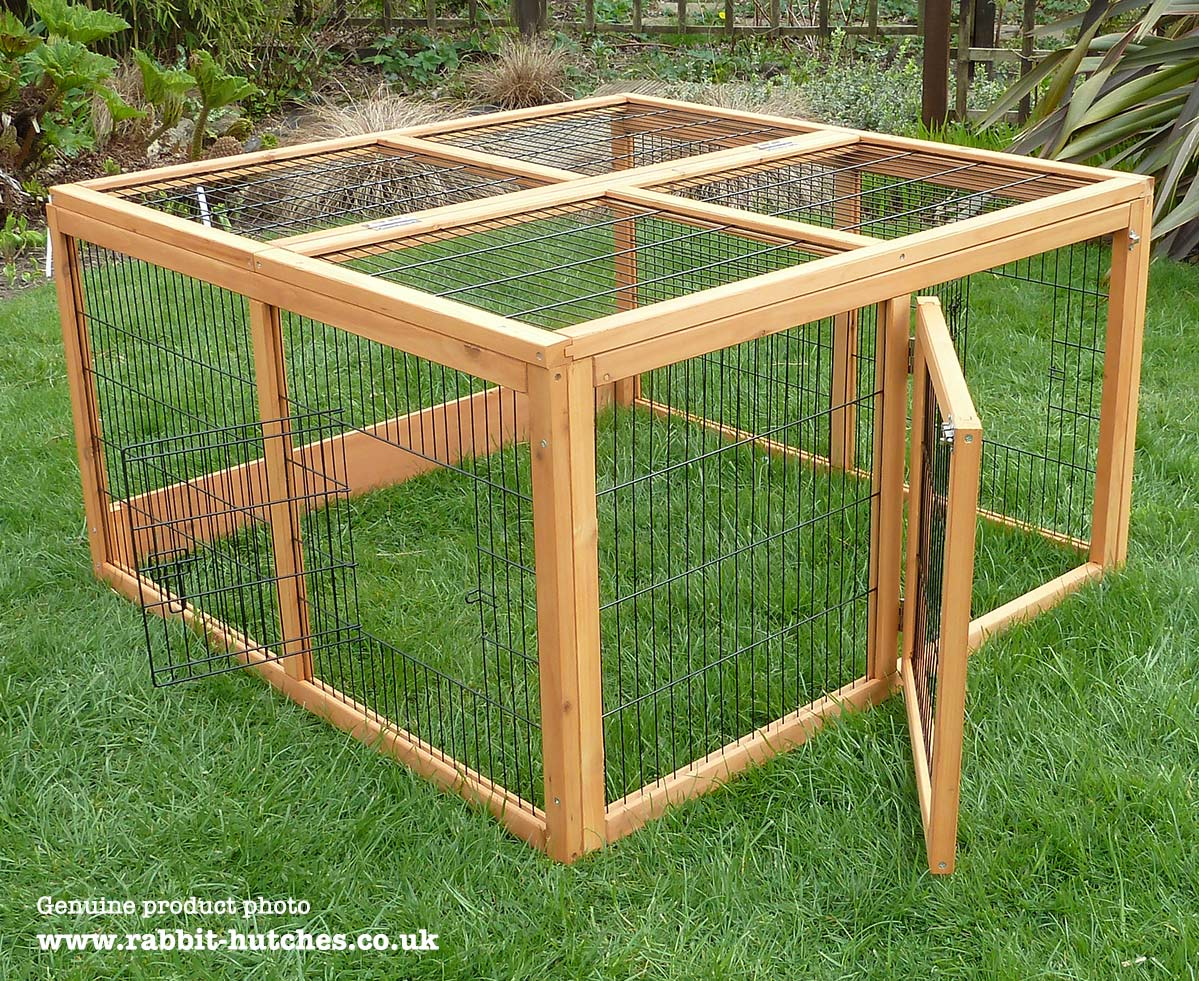 Double Rabbit Hutch Run