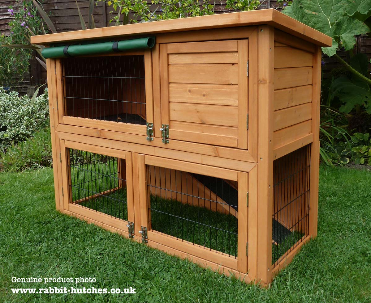 hutches dura hutch temp rabbit a double new duratemp